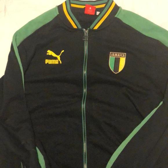 new products 698ff 8f84f Mens Puma Jamaica national team track Jacket
